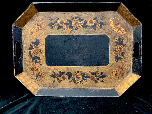 19th C Toleware Paint Decorated Tray