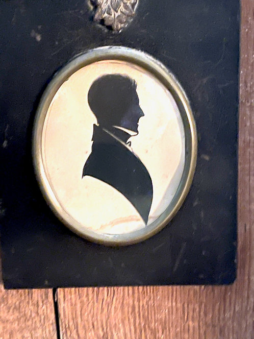 Fine Ca 1840 Silhouette of a Gentleman