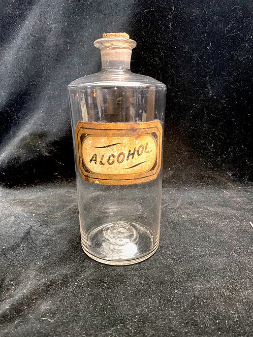 19th C Hand Blown Apothecary Jar Alcohol