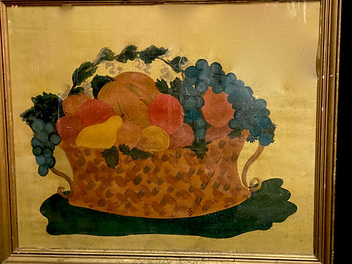 Ca 1830 Large Naive Watercolor Theorem on Yellow