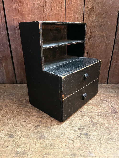 19th C Child's Two Drawer Cupboard x Burmann Collection