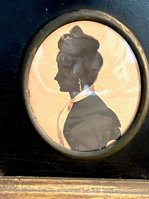 Fine Embellished Silhouette of a Lady with Drop Earrings