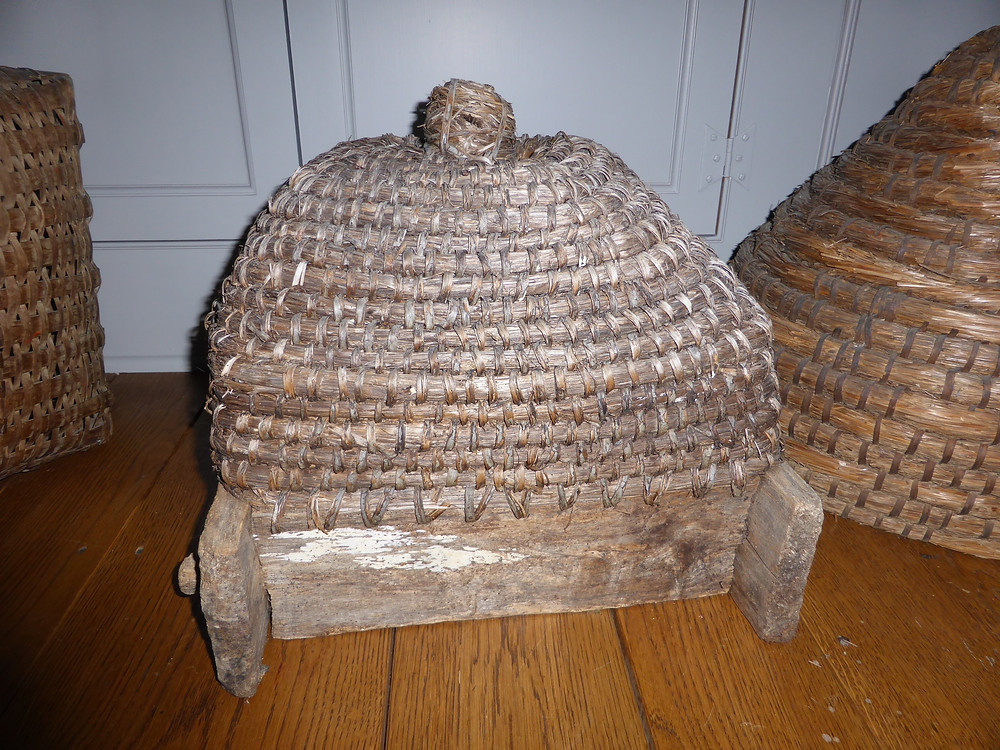bee skep, country antiques, primitives