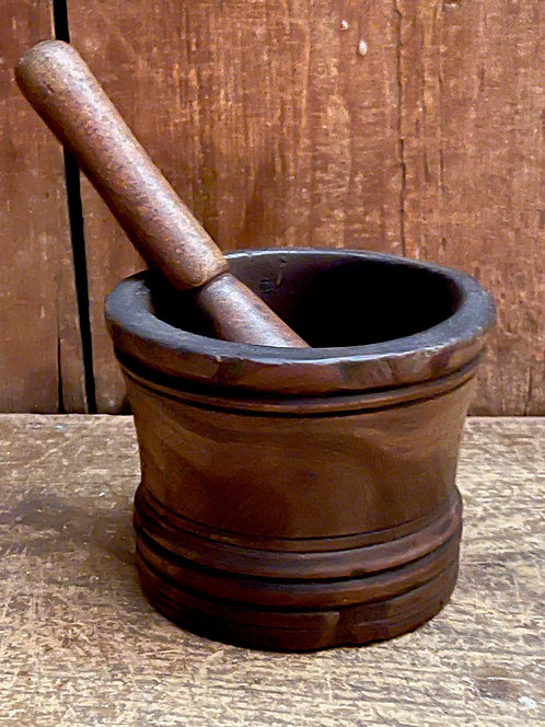 Small, Early Burl Mortar and Pestle