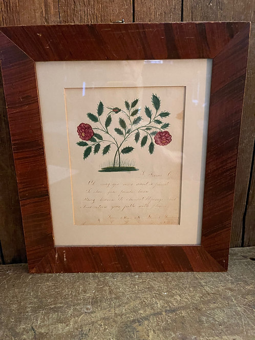 Mary Stewart's Watercolor and Poem to a Friend, Provenance