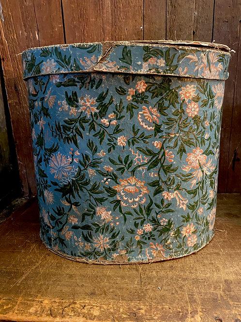 C 1845 Blue Wallpaper Band Box