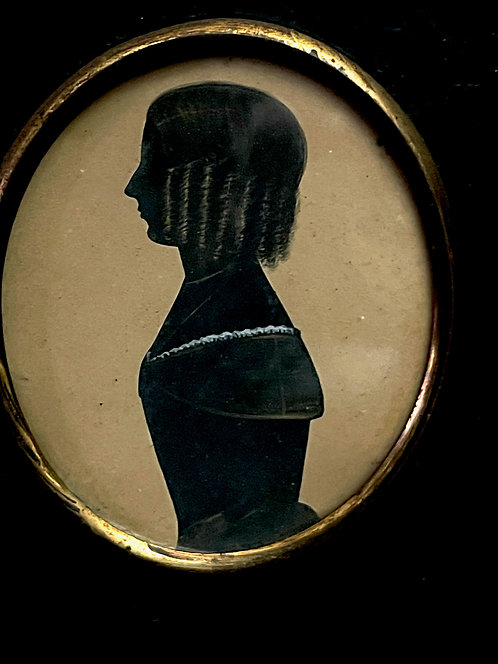 Ca 1800 Silhouette of a Girl with Ringlets