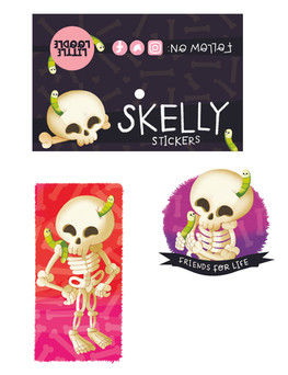 Skelly and Friends Sticker Set