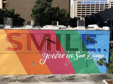 """""""Smile, you're in San Diego"""" a motto Councilmember Campbell can live by..."""