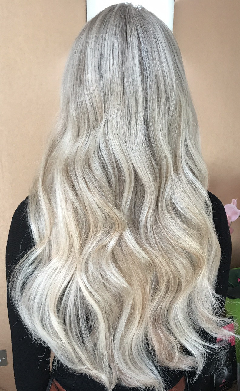 Ice Blonde Hair Extensions
