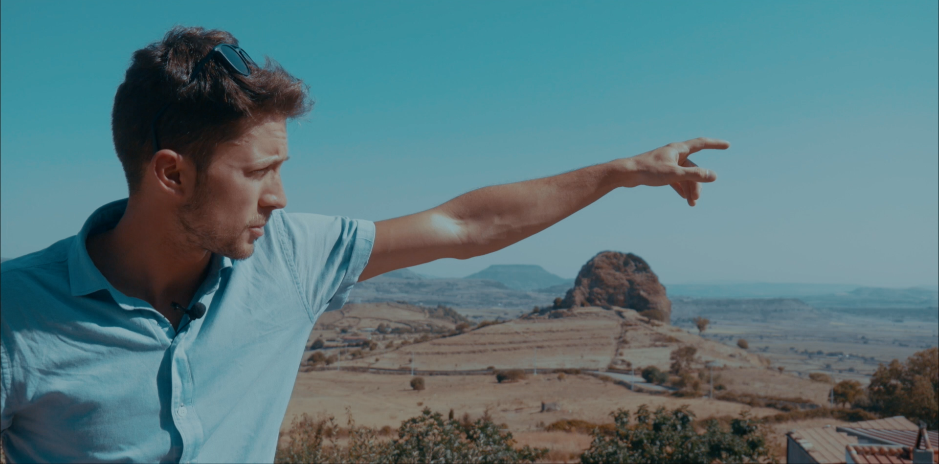 Tommaso Beni sul set in Sardegna