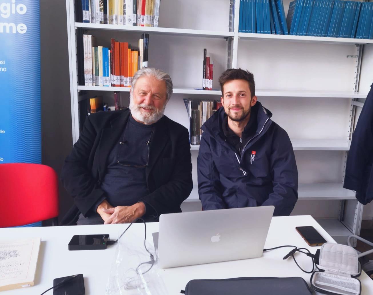 Tommaso Beni con il Prof. Federici