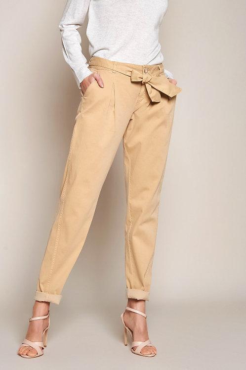 ROSNER pantalon 7/8 ceinture nouée