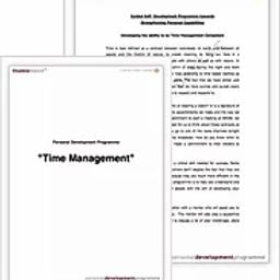 Personal development program report