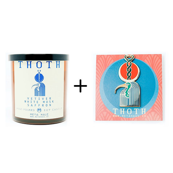 THOTH PIN + CANDLE COMBO