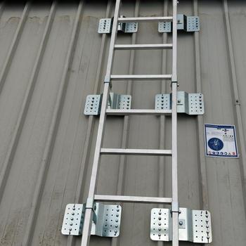 Installazione scala accesso + linea vita