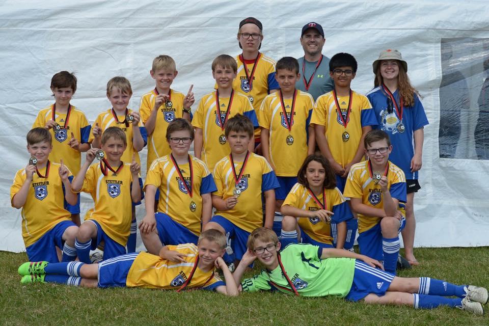 U12 boys league medals 2