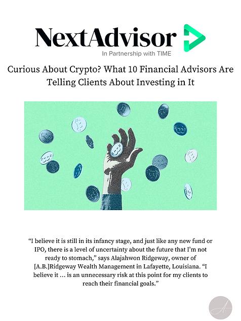 Alajahwon Ridgeway A.B. Ridgeway Wealth Management NextAdvisor News Article