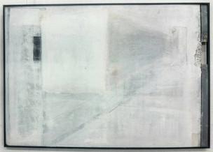 A L Kleiner  Street lights, 2017  Acryic on hardboard  60 x 90 cm