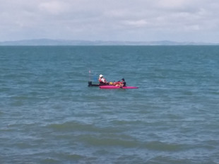 Kayaking just in front of the Seaspray Motel