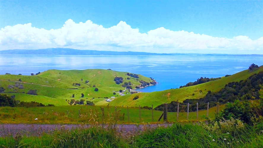 Rangi (sky), the sea and land (papa) near Coromandel