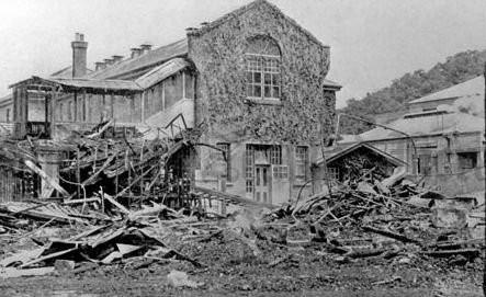 Seacliffe Lunatic Asylum ward destroyed by  fire killing 37 in 1942