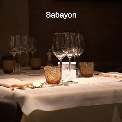 Sabayon glacé au calvados, fondue de pomme et citron