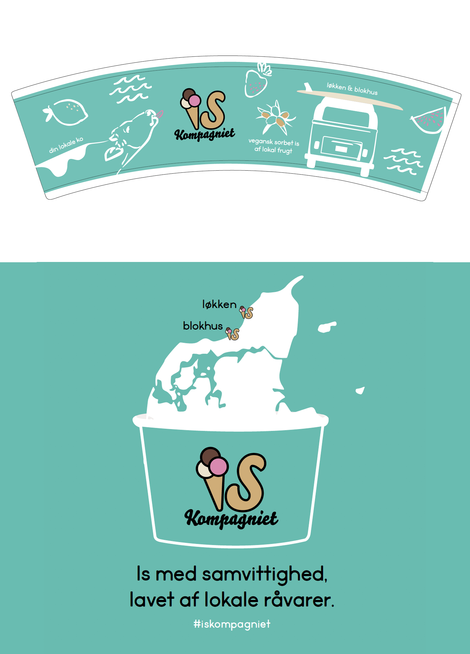 IS Kompagniet - Ice cream cup + t-shirt