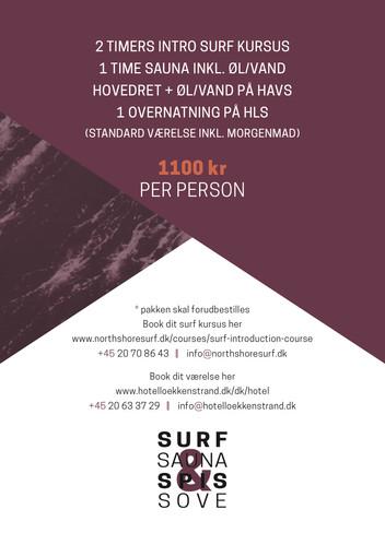 SURF, SAUNA, SPIS & SOVE