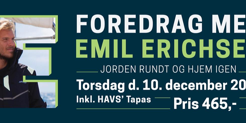 """UDSOLGT - Foredrag med Emil Erichsen - """"Jorden rundt og hjem igen"""""""