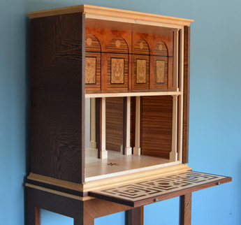 wenge cabinet open