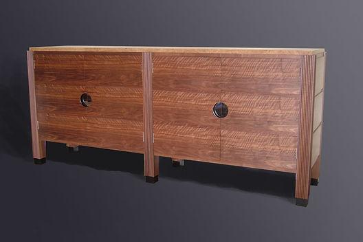 side cabinet' blackwalnut and burr oak.j