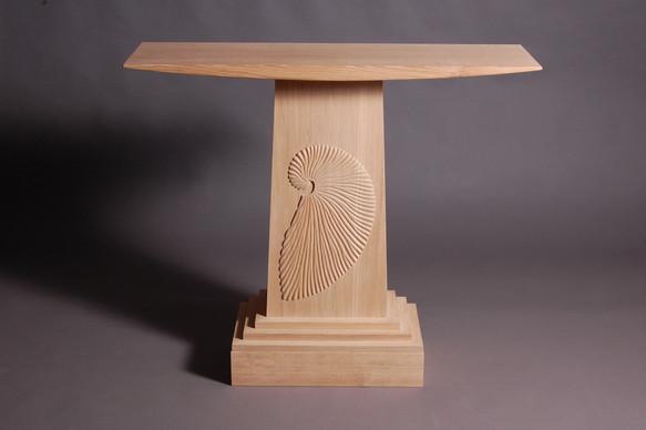 argonaut console table oak