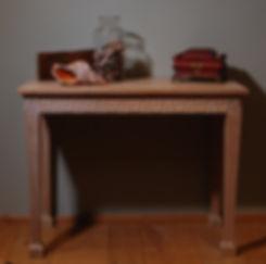 side table limed oak bespoke