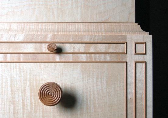 Sycamore cabinet detail