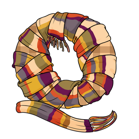 Q - 4th Doctor Scarf