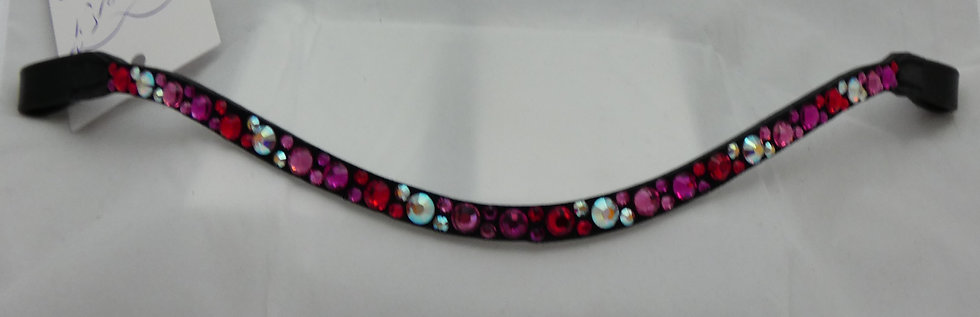 Fuchsia, Light Siam, Crystal Aurore Boreale, Rose Swarovski   Crystal Browband