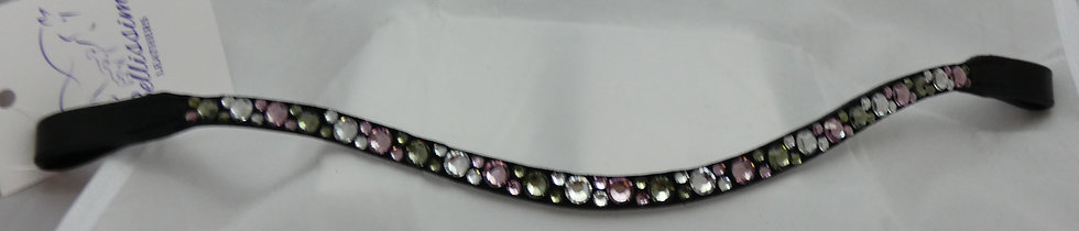 Crystal,Light Rose, Black Diamond Swarovski  Crystal Browband
