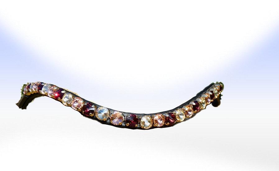 Rosegold, Gold, Smoked Topaz Crystal Browband