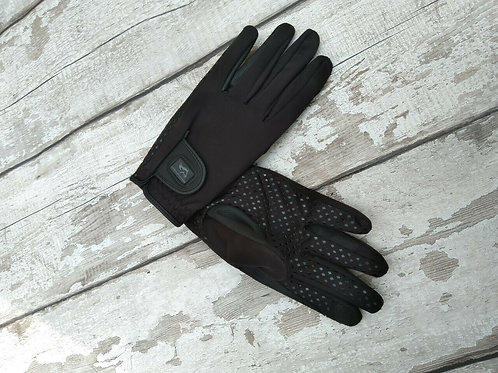 London Black Softshell Gloves