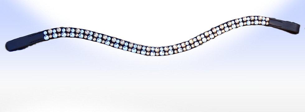 Crystal, Light Colorado Topaz Swarovski  Crystal Browband