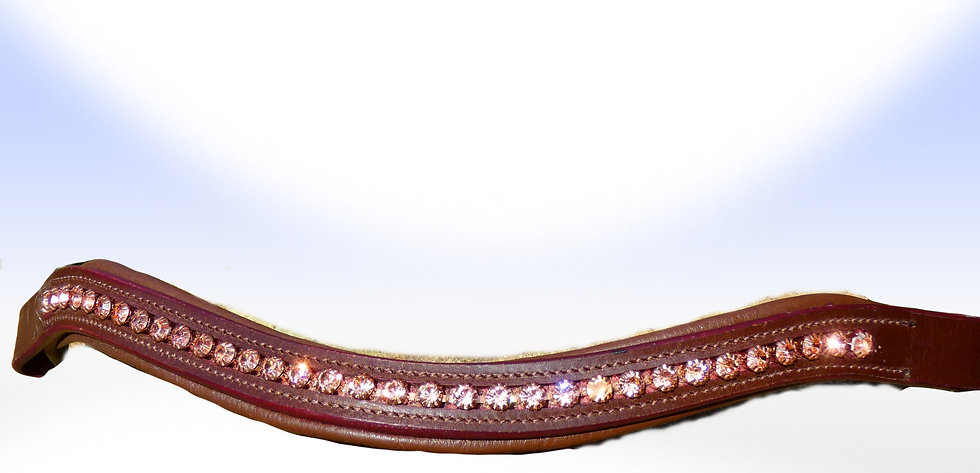 Rosegold Swarovski Crystal Browband