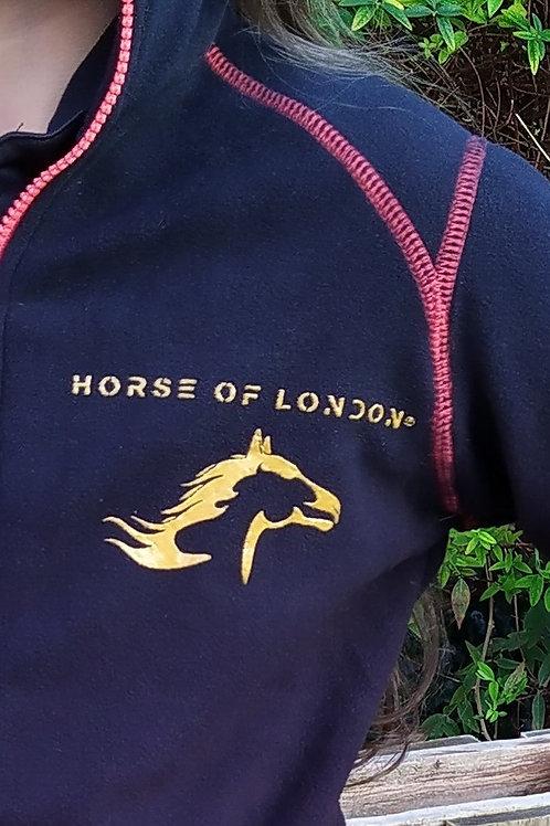 London Black/Red Fleece