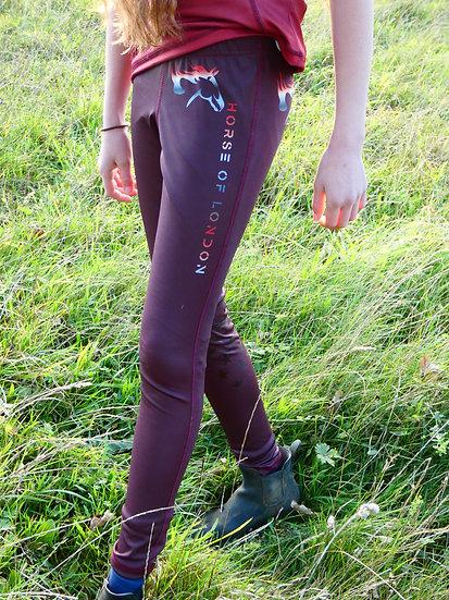 HOL Maroon Leggings