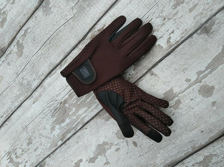 London Brown Softshell Gloves