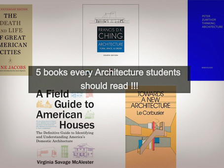 5 books every Architecture students should read !!!