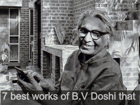 7 best projects of B.V. Doshi that you need to know.