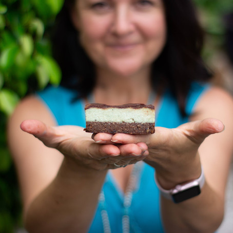 Raw Peppermint Slice