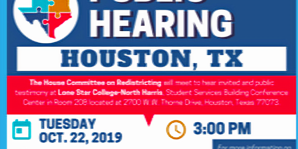House Committee on Redistricting Public Hearing, Houston