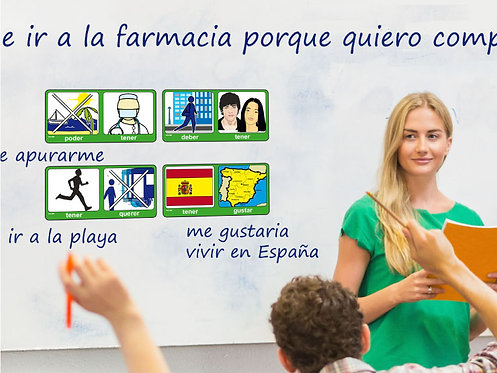 Spanish Verb+Verb Conjunction Cards